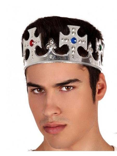 couronne roi argent plastique