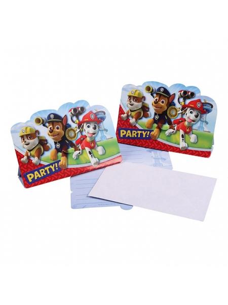 cartes d`invitationx8 pat patrouille