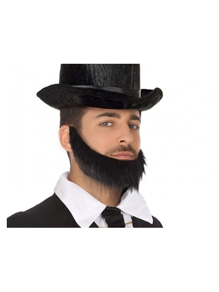 barbe noire avec élastique
