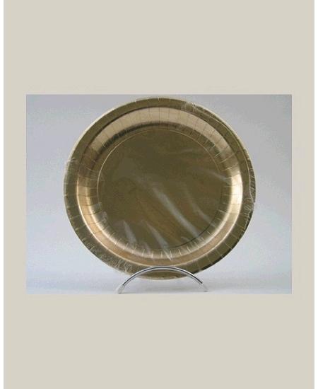 assiette or x10/23cm carton 285grs au m2